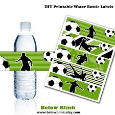 Soccer Water Bottle Labels Printable Water Bottle Labels Soccer