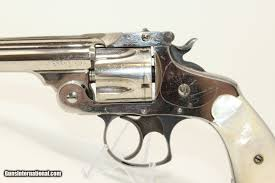 Nickel & PEARL SMITH & WESSON .38 S&W Revolver C&R Circa 1902 .38 S&W  Double Action with PEARL GRIPS!