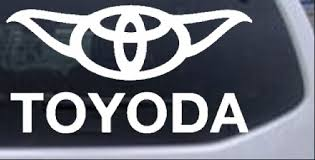 Toyoda Toyota Yoda Funny Car Or Truck Window Decal Sticker Rad Dezigns