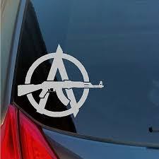 Anarchy Ak47 Rifle Vinyl Sticker Decal 2nd Amendment Gun Rights Nra Sks Russian Ebay
