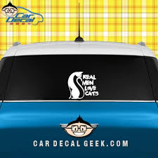 Real Men Love Cats Car Decal Graphic Window Sticker
