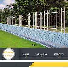 China F011 Security 3 Rail Simple Design External Metal Fence China Fencing System Fence Panel