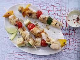 Fish and Vegetable Skewers recipe