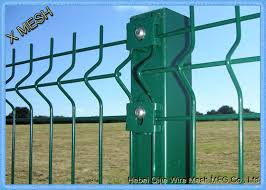 Green Powder Coated Wire Mesh Fence Panels Perimeter Coated Welded Wire Fence Steel