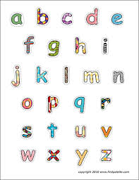 alphabet lower case letters free