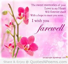 touching farewell quotes sayings