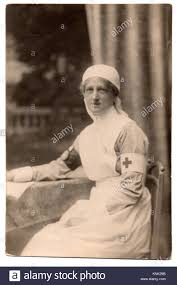 Edith Johnson in 1917, wearing her VAD (Voluntary Aid Detachment Stock  Photo - Alamy