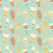 pattern with cartoon cute ice creams