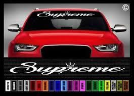 40 Supreme 1 Jdm Street Racing Import Race Car Decal Sticker Windshield Banner Ebay