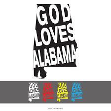 God Loves Alabama Vinyl Window Decal 91 Clothing