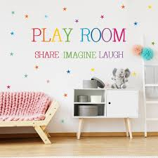 Creative Playroom Share Imagine Laugh Wall Sticker Kid Children Room Decor Decal Home Garden Wall Decals Stickers