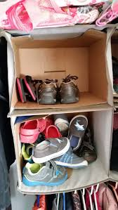Amazing 5 Minute Diy Kids Shoe Organziation For Your Closet