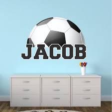 Personalized Soccer Bedroom Wall Art Large Soccer Wallpaper Boys Bedroom Soccer Sticker Personalized Soccer Monogram Primedecals