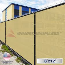 6 X12 Beige Tan Fence Windscreen Privacy Screen Mesh Fabric Cover Shade Cloth Privacy Screen Outdoor Outdoor Privacy Fabric Shades