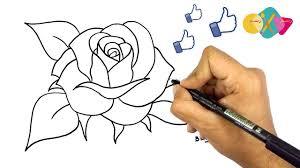 طريقة رسم وردة كيف ترسم وردة تعليم الرسم كيفية رسم وردة