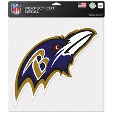 Baltimore Ravens 4 Nfl Team Logo 1 Color Vinyl Decal Sticker Car Window Wall