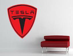 Tesla Logo Wall Decal Vinyl Sticker Luxury Car Garage Art Decor Many Colors L345 Ebay