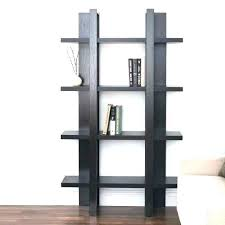 tall black bookcase glass doors corner