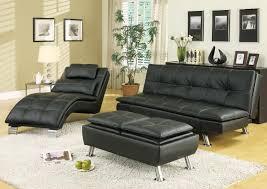 arianna black euro styled futon sofa