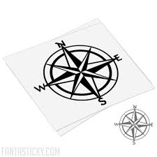 Windrose Compass Rose Decal For Laptop Cars Windows