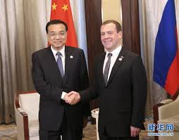 Li Keqiang Meets with Prime Minister Dmitry Medvedev of Russia