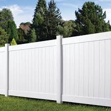 Veranda Linden 6 Ft H X 8 Ft W White Vinyl Pro Privacy Fence Panel Kit 73013298 The Home Depot Mo In 2020 Privacy Fence Designs Privacy Fence Panels Fence Design