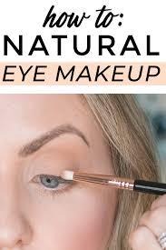 natural eye makeup minimal and easy