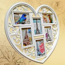 photo frame hanging heart shaped multi