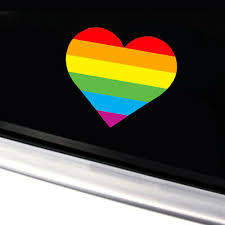 Car Truck Graphics Decals Motors Rainbow Lips Gay Pride Lgbt Decal Sticker Car Truck Window Bumper Laptop Wall Hairli Hr
