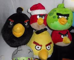 LOT OF 18 ANGRY BIRDS RED GREEN BLUE YELLOW GREEN STUFFED ANIMAL ...