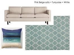 decorate around a tan pink beige sofa