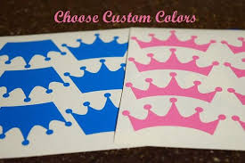 Prince Or Princess Gender Reveal Cup Decals Vinyl Prince Or Princess Stickers King Or Queen Prince Or Princess Reve Princess Sticker Gender Reveal Cup Decal