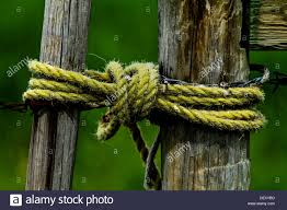Dramatic Scenic Image Of Rural Wooden Fence Gate With Rope Stock Photo Alamy