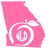 Georgia State Decal Georgia Peach Decal From Whitneysmonograms On