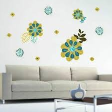 Green Teal Flowers Printed Wall Decal Pack Flowers Wall Accent Wall Art Ebay