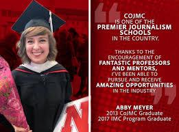 Pursuing opportunities: UNL alum Abby Meyer leverages CoJMC experiences  into career success | CoJMC | Nebraska
