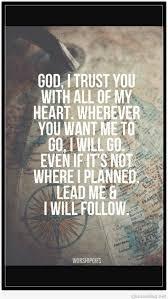 god i trust you quotes