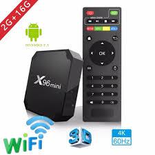 2018 X96 mini tv box Android 7.1.2 2GB 16GB Android TV BOX Amlogic S905W  Quad Core Support H.265 UHD 4K WiFi X96mini Set top box|Set-top Boxes