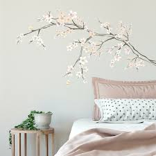 Zoomie Kids Cherry Blossom Branch Peel And Stick Giant Wall Decal Reviews Wayfair