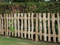 Cleft Chestnut Mortise Framed Fencing With Wide Pickets Rustic Garden Fence Rustic Fence White Picket Fence House