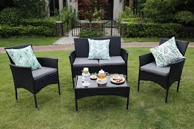 eton 4pc rattan outdoor furniture set