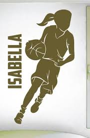 Custom Girls Name Basketball 0265 Personalized Girls Basketball Wal Wall Decal Studios Com