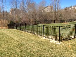 Aluminum Fence By B M Fencing With Images Fence Landscaping Backyard Fences Bamboo Fence
