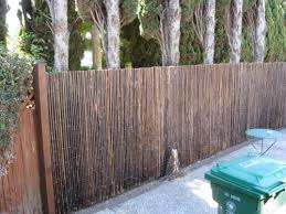 Backyard X Scapes 1 In D X 6 Ft H X 8 Ft W Black Rolled Bamboo Fence Hdd Bf13black At The Home Depot Mobile Bamboo Fence Backyard Garden Fence Panels