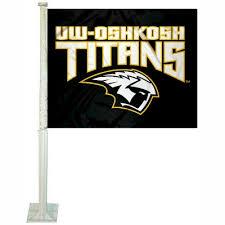 Uw Oshkosh Titans Logo Car Flag And Uw Oshkosh Titans Logo Car Flags