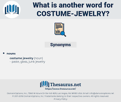 synonyms for costume jewelry