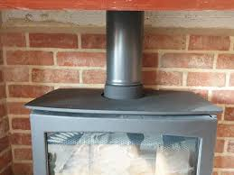 where the flue on a wood burning stove