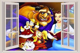 Beauty And The Beast Window Wall Decal Pixar Animation Movie 3 Handmade Cjp Org In