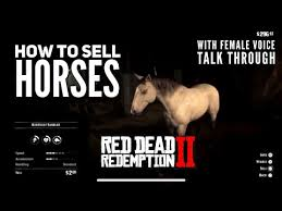 Red Dead Redemption 2 How To Sell A Horse Location Female Voice Talk Through Youtube