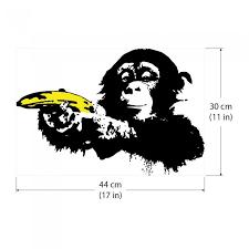 Banksy Ape Monkey With Warhol Banana Vinyl Wall Art Decal